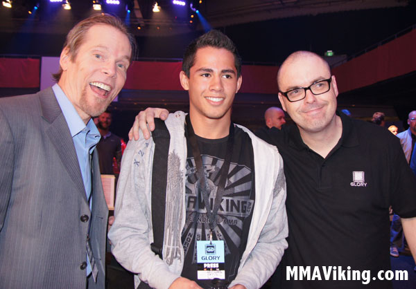 Standing Between Mauro and Steven at Glory World Series in Stockholm