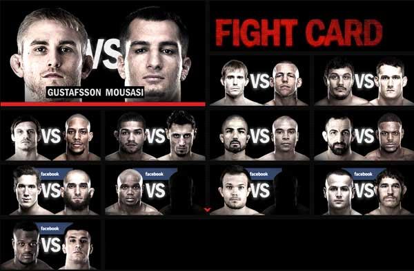 UFC in Sweden 2013 Set