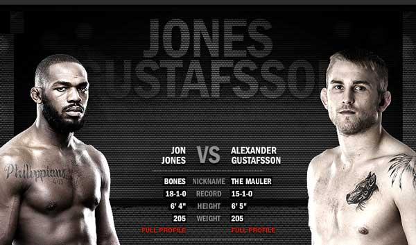 Gustafsson Versus Jones UFC