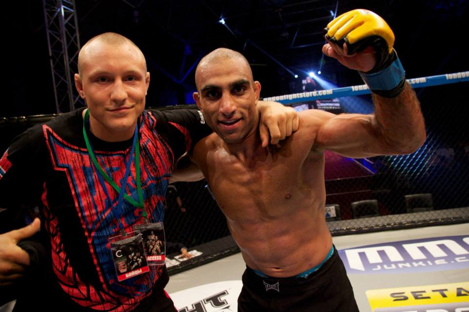 Bahari with Jack Hermansson who also traveled with the Norwegian crew that were stuck in London