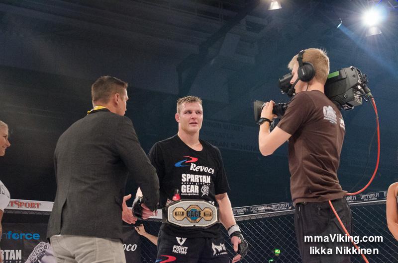 Marcus Vänttinen kept his belt.