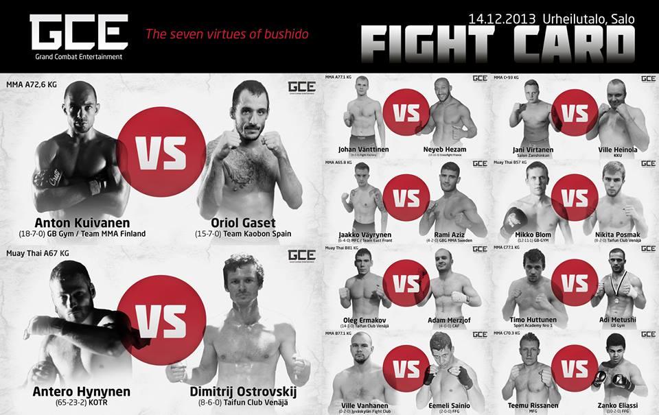 GCE_Fight_Card