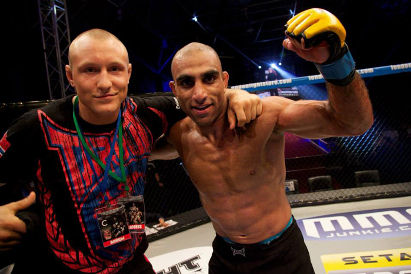 Jack Hermansson with Teammate Mohsen Bahari in CW Cage | Photo by Dolly Clew
