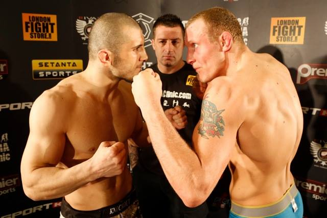 Ion Pascu vs. Jack Hermansson (Copyright: Dolly Clew | Cage Warriors)