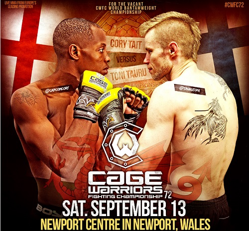 Cage Warriors 72 w/Toni Tauru @ Newport Centre | Newport | Wales | United Kingdom