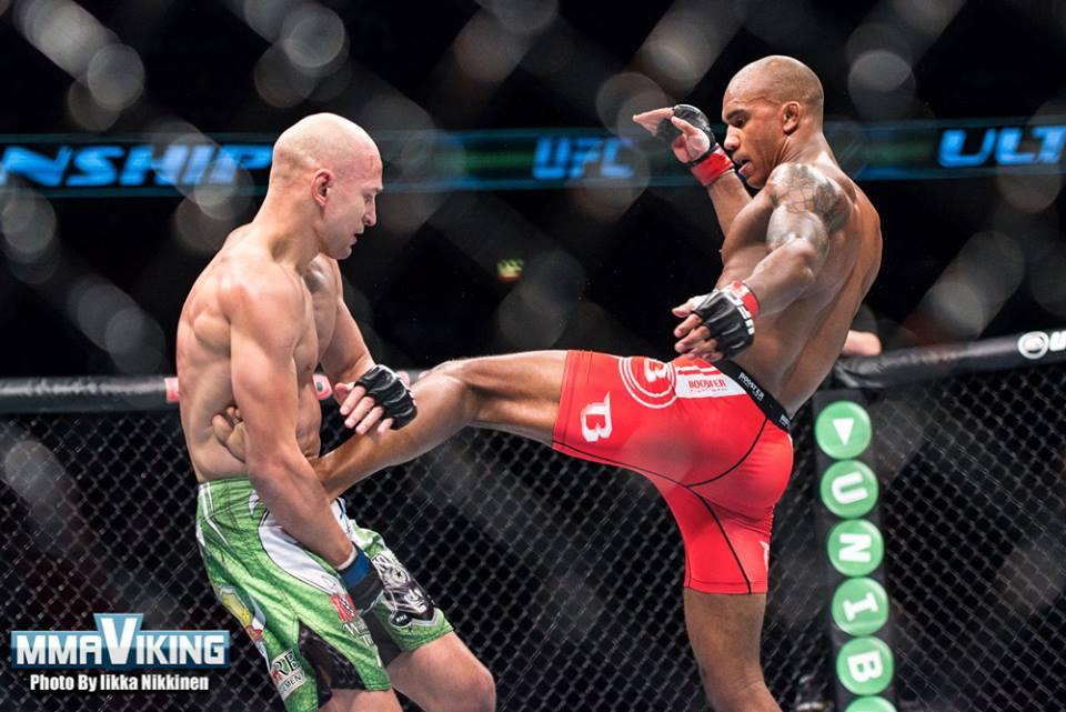 Musoke Lands a Huge Body Kick