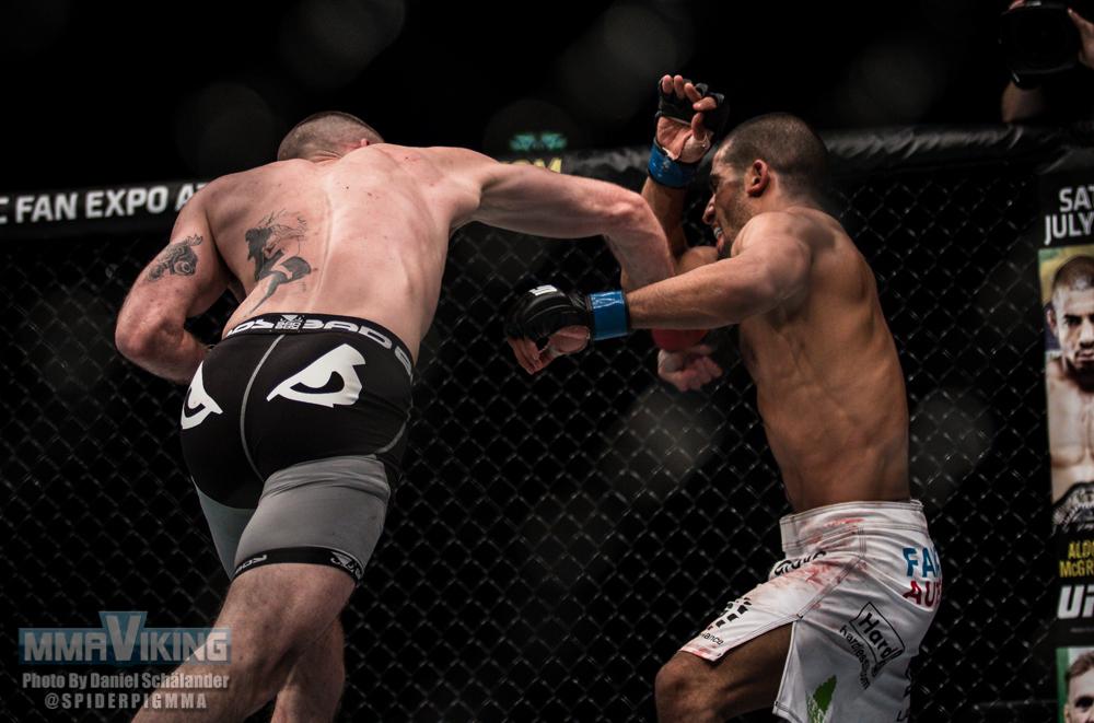 Cageside Photos : Niklas Backstrom vs. Noad Lahat at UFC ...