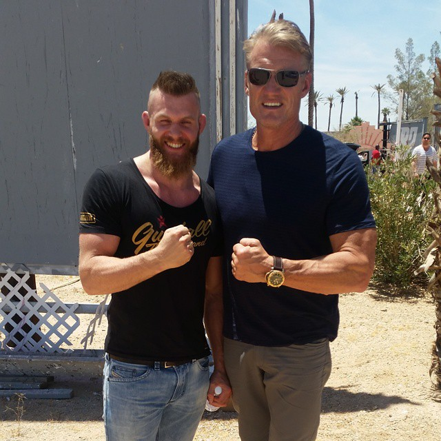 Meek Enjoying the Summer with Stars (including Dolph Lundgren), Back in Training for Bout - Photo by Betsafe from Gumball 3000)