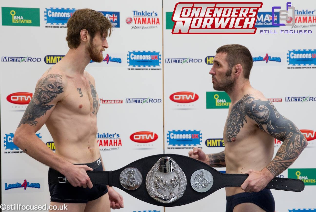 Tollefsen and Doyle at Weigh-ins (Photo by ©stillfocused.co.uk)