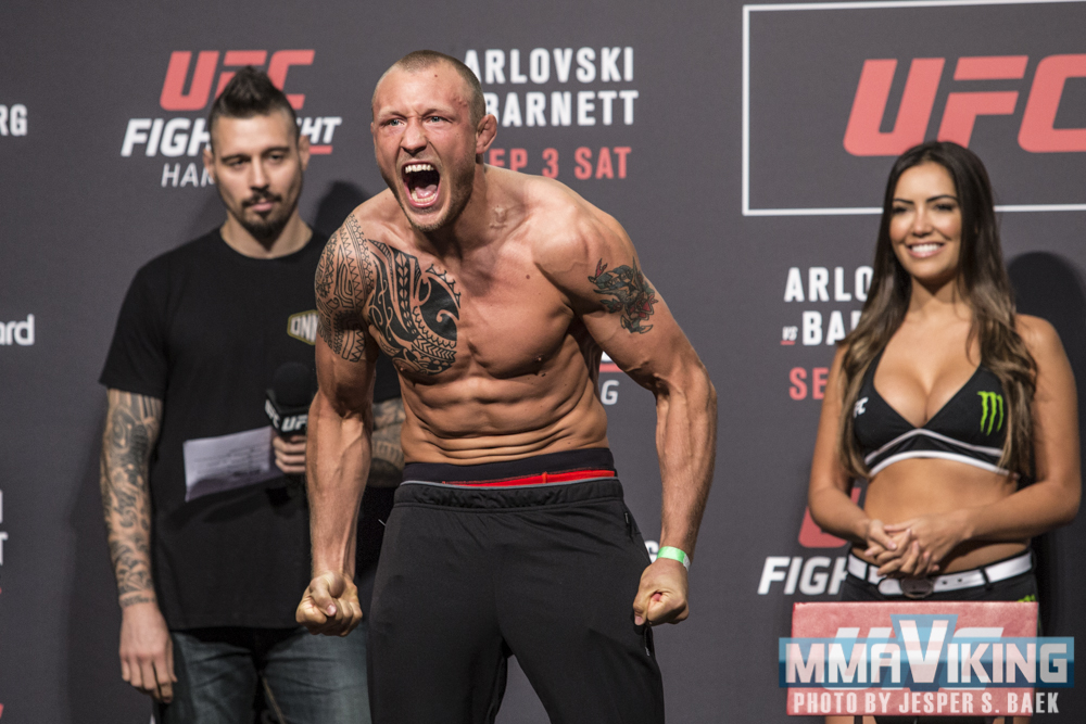 Hermansson is the first of five Nordic fighters