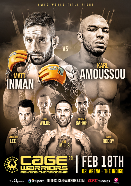 Bahari/Gonzalez, Foss, and Robertson at Cage Warriors 80