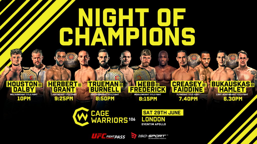Cage Warriors 106 with Dalby, Burnell, and Hamlet
