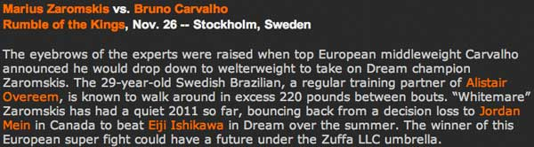 Carvalho in Top Fight in Sweden