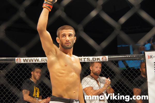 Sirwan after his win at Royal Arena 2