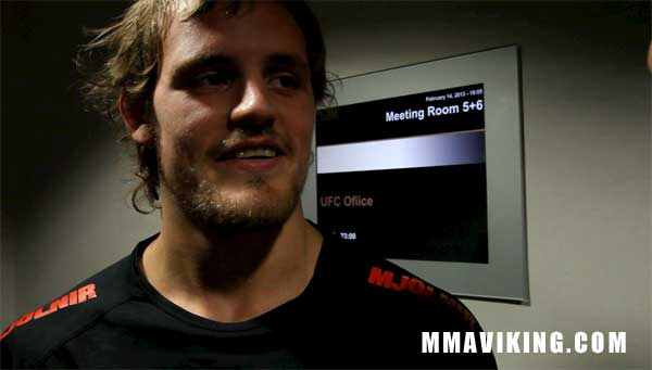 Nelson Talks to MMA Viking About Saturday's Bout
