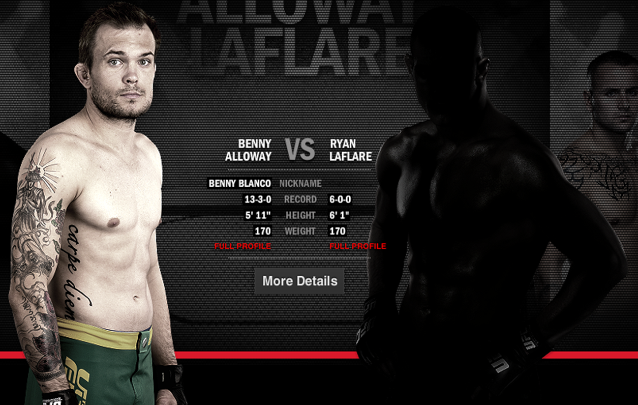 Alloway gets a stiff challenge from UFC new comer LaFlare