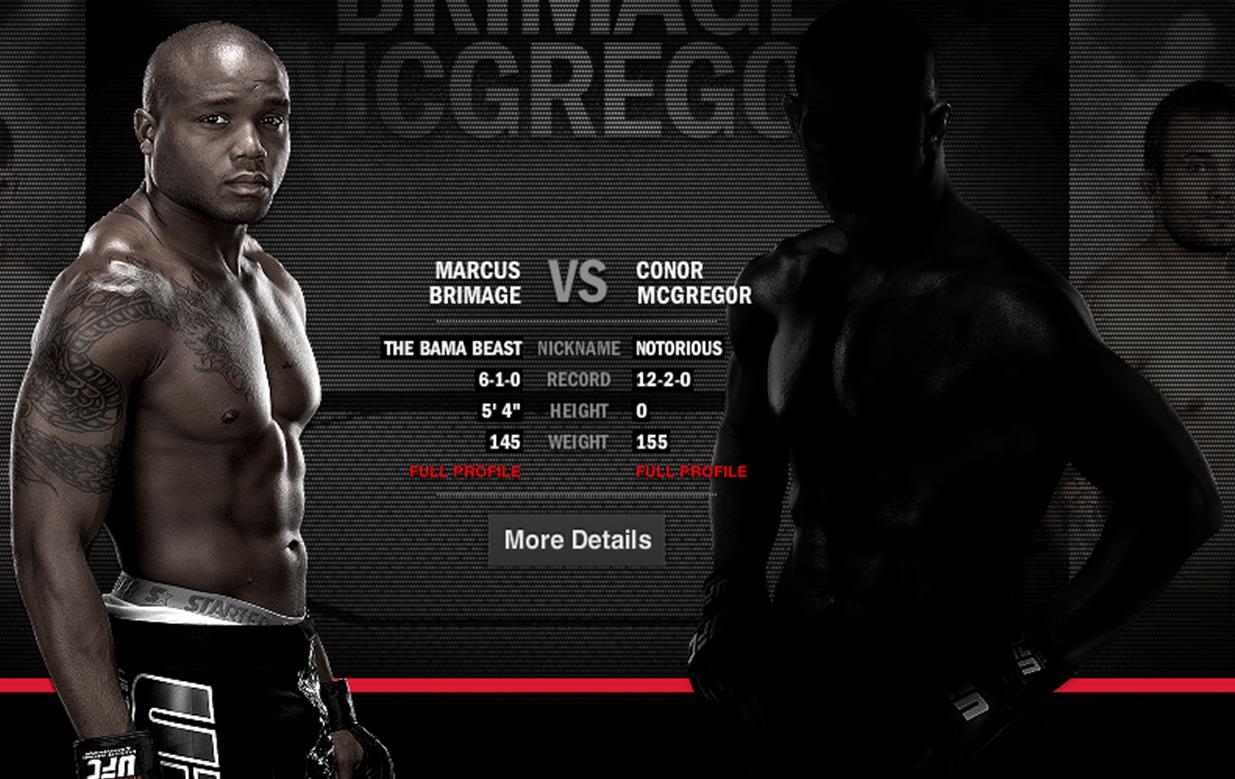Brimage welcomes McGregor to the UFC