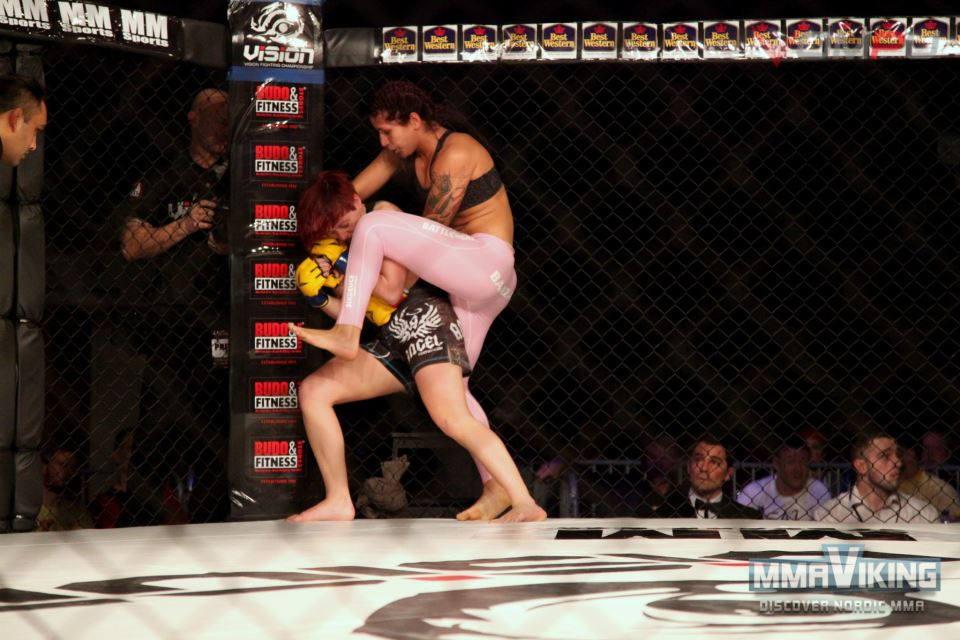 Pannie dominating against Cheryl Flynn at Vision 5
