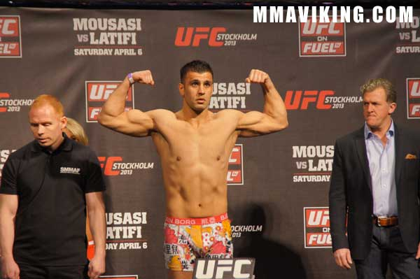 Yousef at Weigh-ins