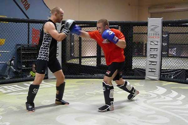 Kampmann and Parlo Training in Vegas