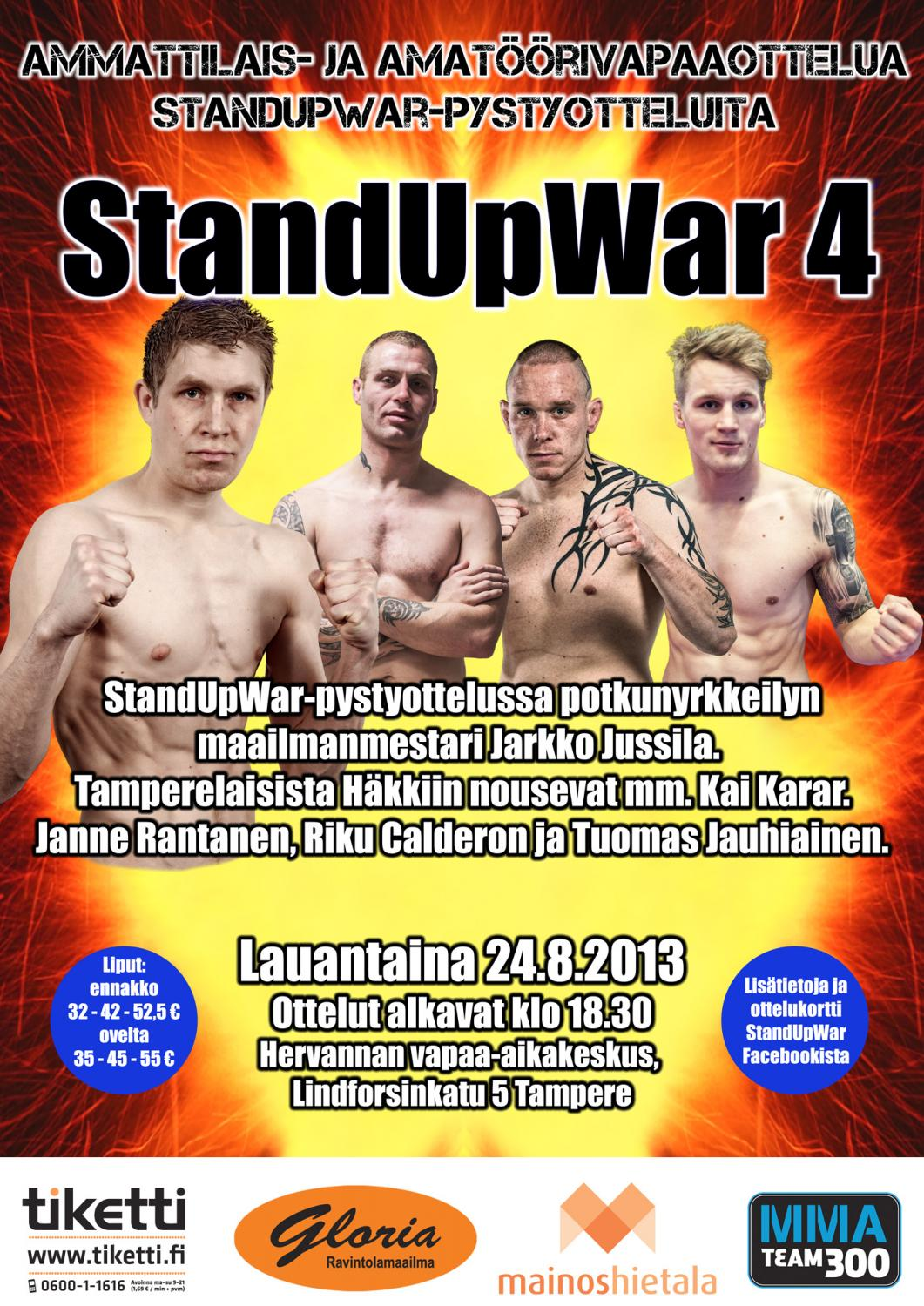 StandUpWar 4 takes on place 24th of August in Tampere, Finland