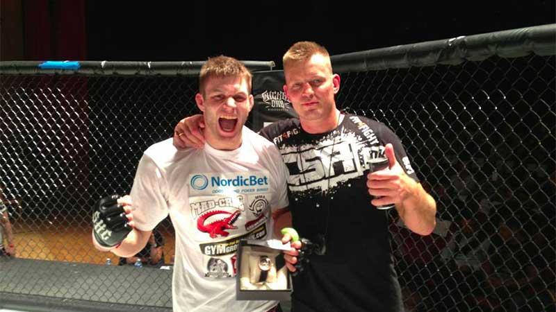 """Meek Wins (Photo by CSA.dk MMA fight team """"Team Grind"""" Coach Ettrup's)"""