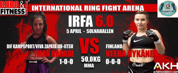 Iman Darabi, DIF Kampsport/Viva Zapata Jiu-Jitsu vs Veera Nykanen, Finland
