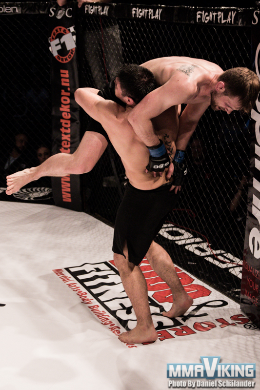 Gonzalez with a takedown leading to submission