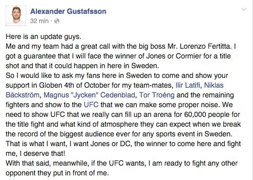 Gus statement