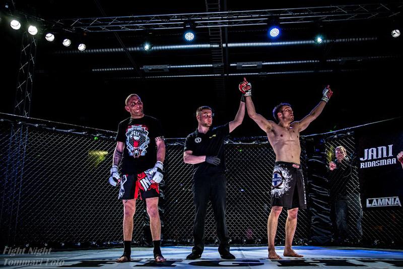 Ridasmaa Wins at Fight Night (Photo by Tommari Foto)