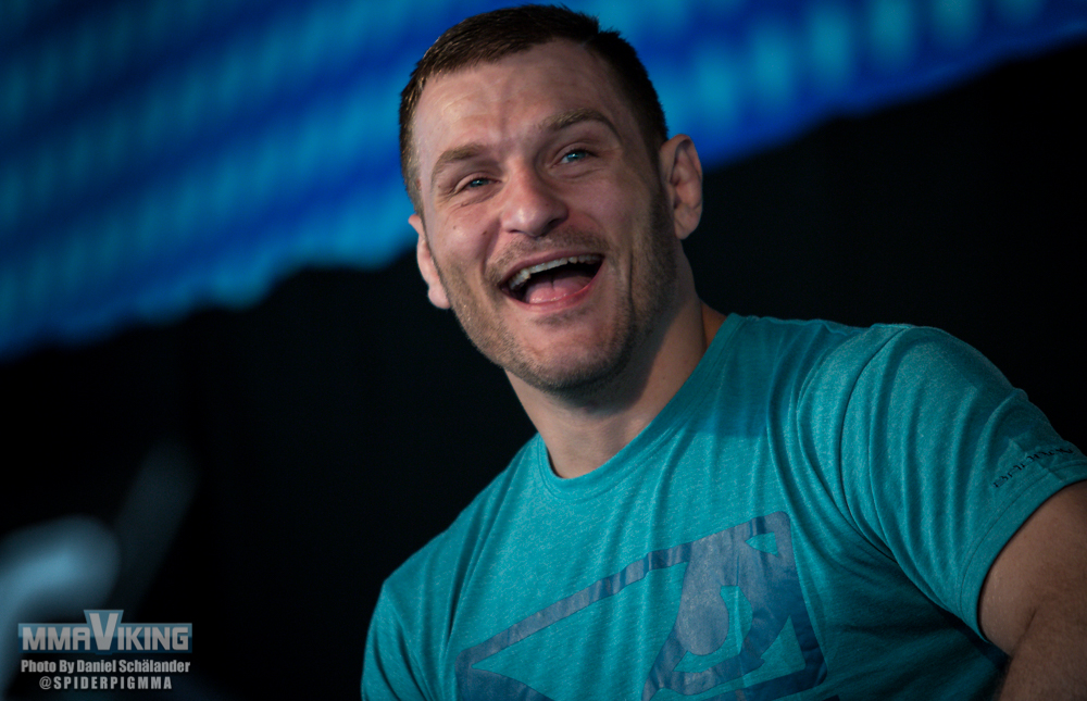 Stipe Miocic talking about being a part time firefighter and a UFC heavyweight