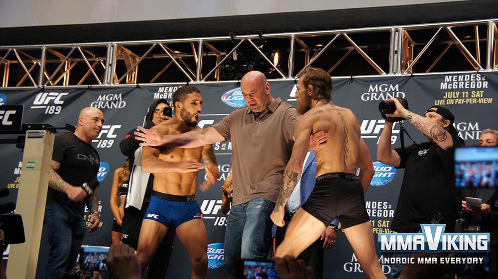 McGregor (Training Partner of Gunnar Nelson) Versus Mendes