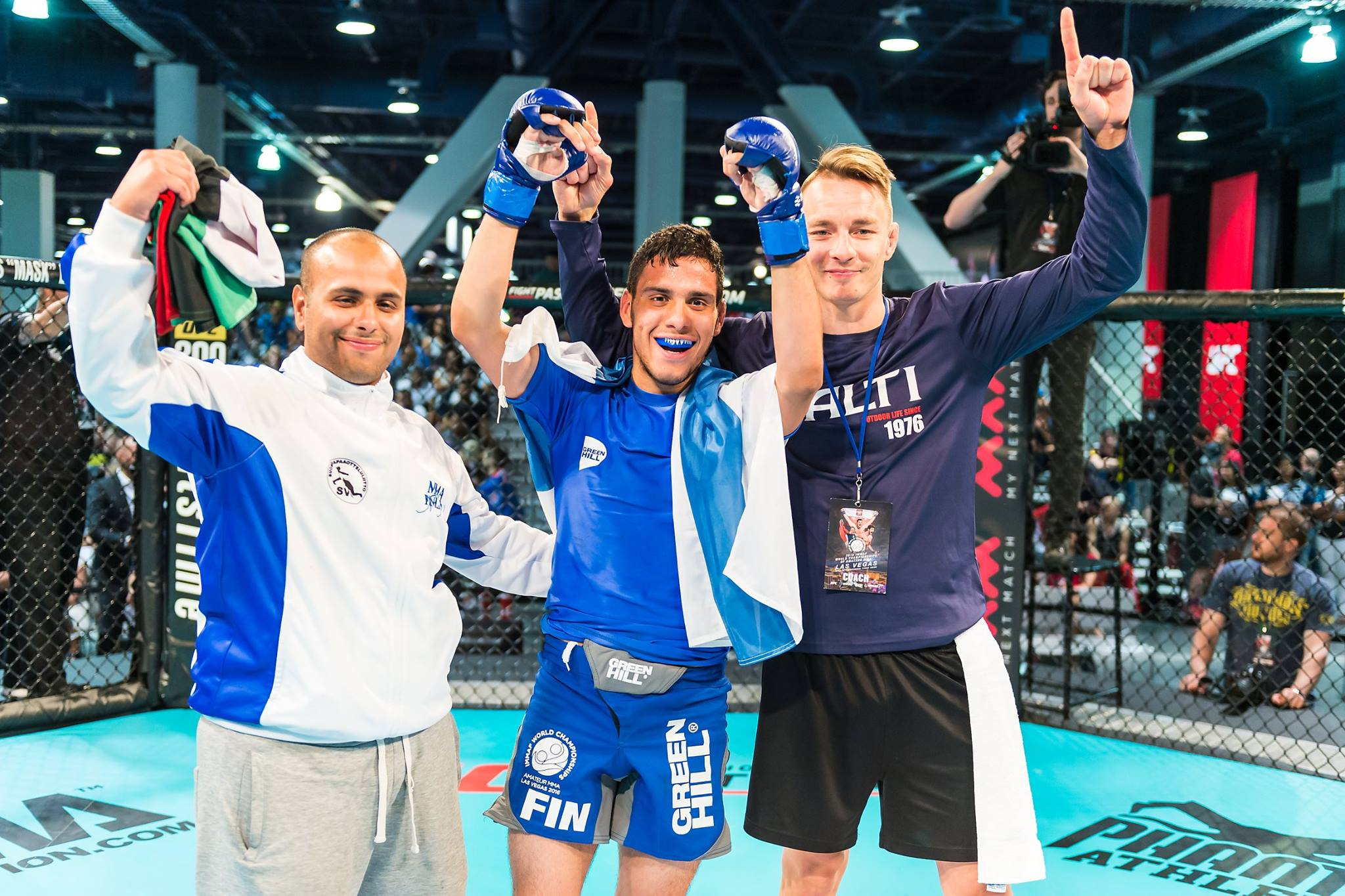 Hussein Wins Gold (Photo by IMMAF)