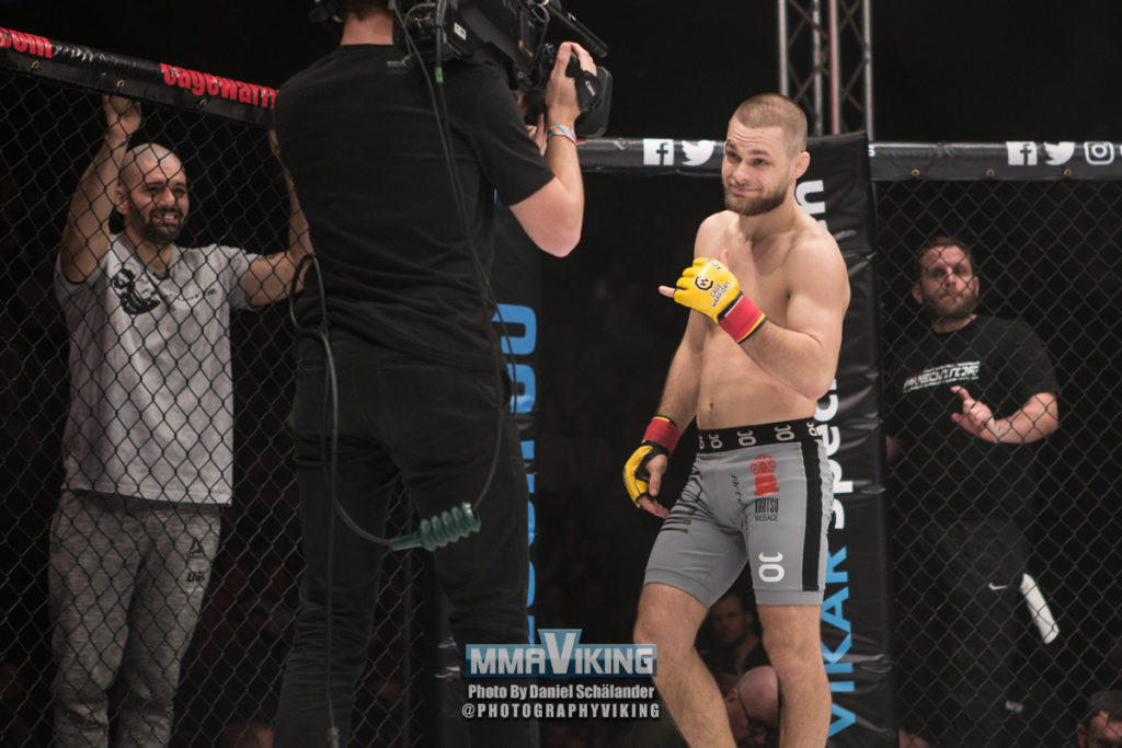 Mads Burnell at Cage Warriors London