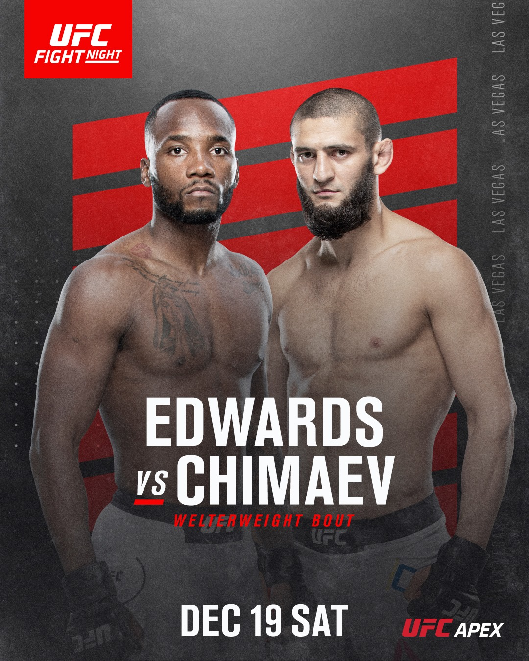 CANCELLED - Khamzat Chimaev Versus Leon Edwards